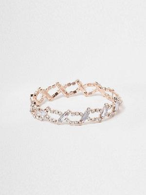 River Island armband Rose Gold tone diamante link bracelet