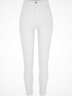 River Island White Harper high waisted super skinny jeans