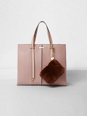 River Island persikofärgad väska Pink long handle pouchette tote bag