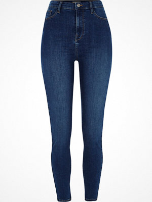 Jeans - River Island Mid Blue Harper high waisted skinny jeans