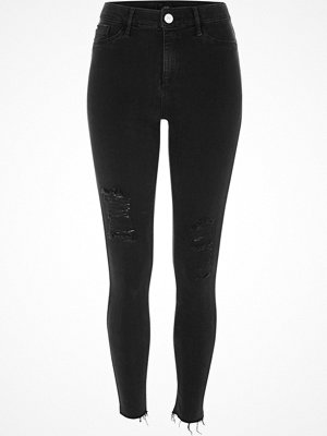 River Island Black washed Molly jeggings