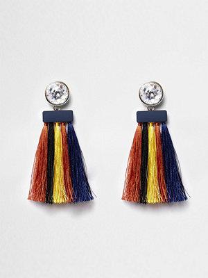 River Island örhängen Yellow multicoloured tassel drop earrings