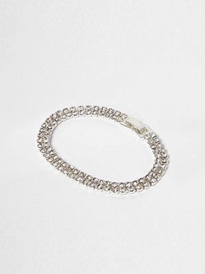 River Island armband Silver tone diamante bracelet