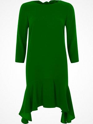 River Island Green tie back frill hem swing dress