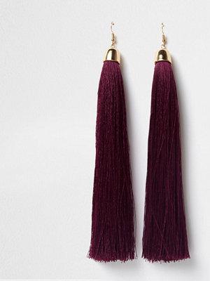 River Island örhängen Purple tassel drop earrings