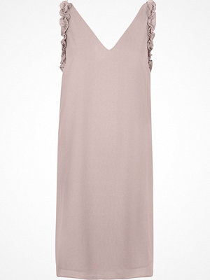 River Island Nude pink frill sleeveless slip dress