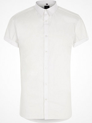 Skjortor - River Island Big and Tall White short sleeve shirt