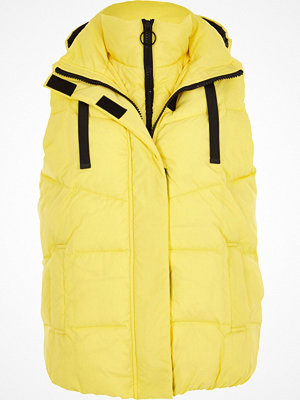 River Island Yellow double layer puffer gilet