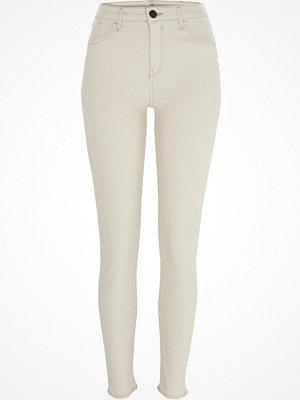 River Island Cream Amelie super skinny jeans