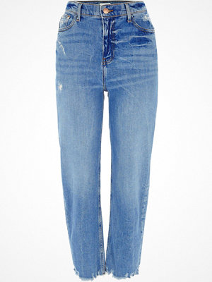 River Island Blue Bella distressed straight leg jeans
