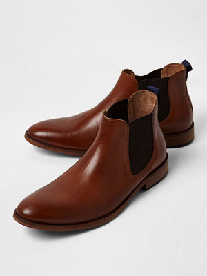 Boots & kängor - River Island Tan leather chelsea boots