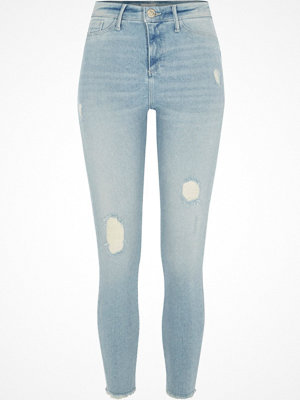 River Island Light Blue Molly distressed skinny jeggings
