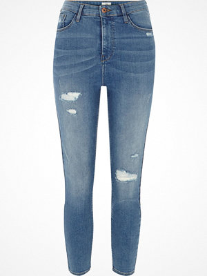 River Island Petite Blue high waisted Harper skinny jeans