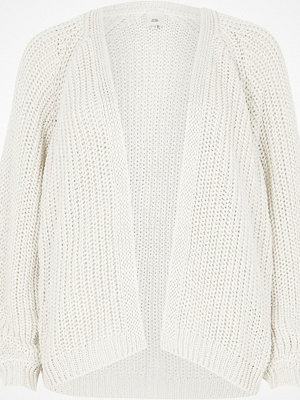 River Island Stone tape yarn knit cardigan