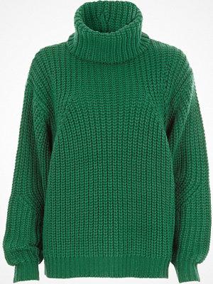 River Island Green chunky knit roll neck jumper