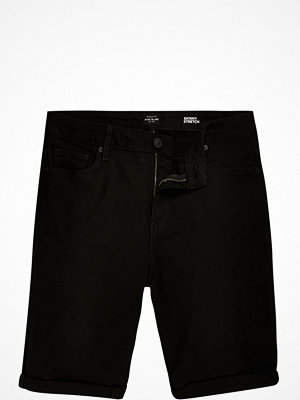 River Island Black skinny stretch fit denim shorts