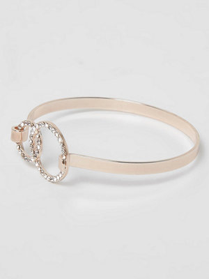 River Island armband Rose Gold tone diamante pave circle bracelet