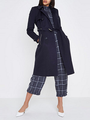 River Island Navy belted trench coat