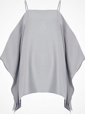 River Island Light Grey cape cold shoulder cami top