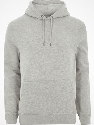 River Island Light Grey long sleeve jersey hoodie