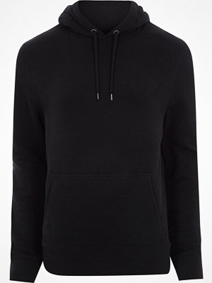 Street & luvtröjor - River Island Black long sleeve jersey hoodie