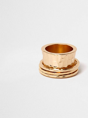 River Island Gold tone hammered spinner ring