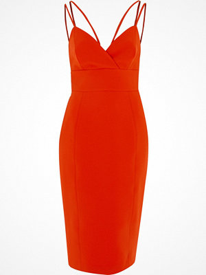 River Island Red strappy cami bodycon midi dress