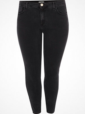 River Island Plus Black Amelie super skinny jeans
