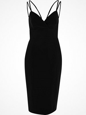 River Island Black strappy bodycon midi dress