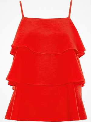 River Island Red tieRed frill cami top