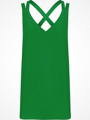 Linnen - River Island Bright Green double strap cross back vest