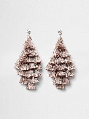 River Island örhängen Nude tassel drop earrings