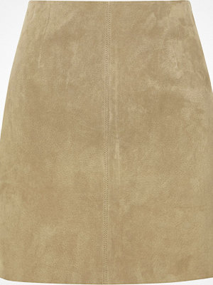 River Island Sand brown suede A line skirt
