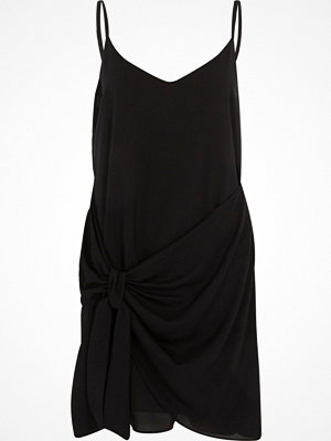 River Island Black knot front slip dress
