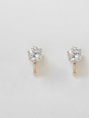 River Island örhängen Gold tone diamante clip on earrings