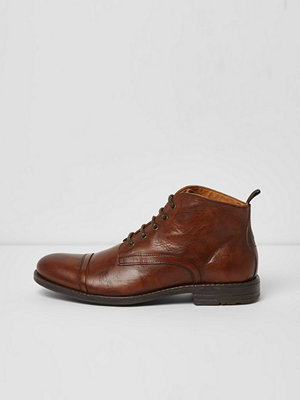 Boots & kängor - River Island Tan leather work boots
