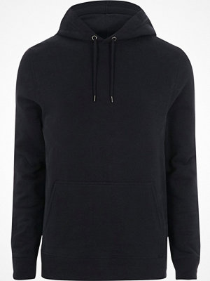 Street & luvtröjor - River Island Navy long sleeve hoodie