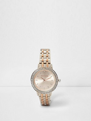 Klockor - River Island Silver and rose gold tone chain link watch