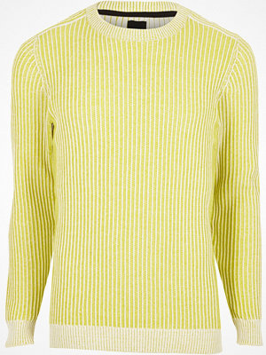Tröjor & cardigans - River Island Yellow rib knit muscle fit jumper