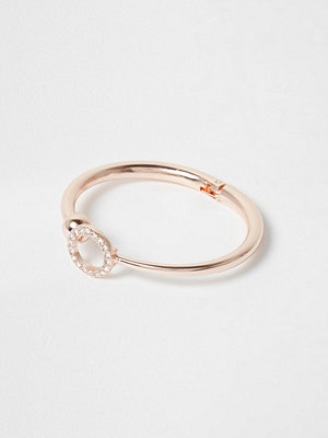 River Island armband Rose Gold tone diamante pave circle cuff