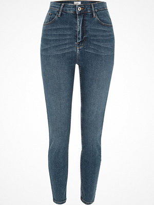 River Island Mid Blue Harper high waisted skinny jeans