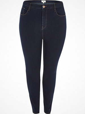 River Island Plus dark Blue Harper high waisted jeans