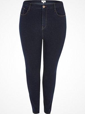 River Island Plus dark Blue Harper high waisted jeans