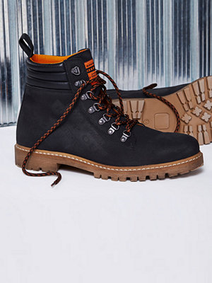 River Island Black Blood Brother leather lace-up boots