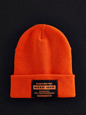 Mössor - River Island Orange Blood Brother beanie hat