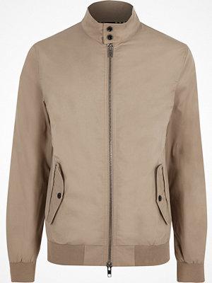 River Island Stone high neck harrington jacket