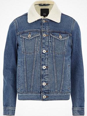 River Island Blue borg lined denim jacket