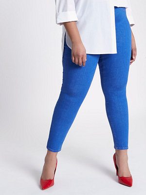 River Island Plus Blue Jaida skinny pull-on leggings