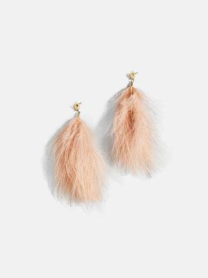 Bik Bok örhängen Feather earrings - Rosa