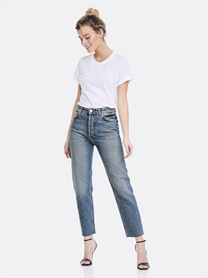 Bik Bok Mom Rhinestone jeans - Blå